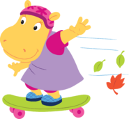 The Backyardigans Sport-Tacular Tasha on Skateboard