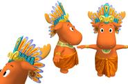 The Backyardigans Mayan King Tyrone Model Sheet