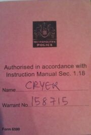 Bob Cryer Firearms Permit Card