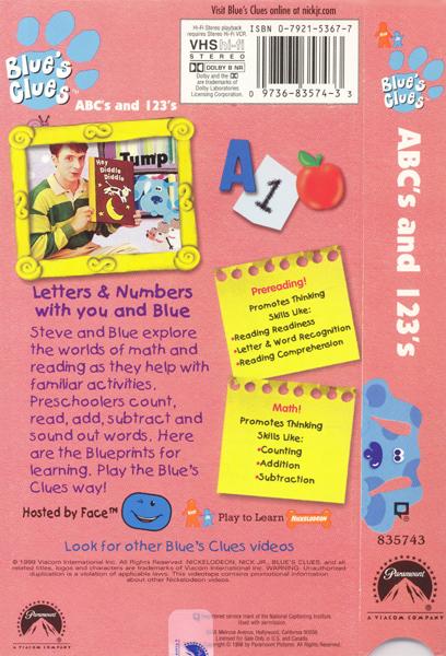 image abcs123sbackcoverjpg blues clues wiki fandom