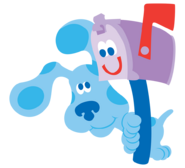 Blue's Clues Blue and Mailbox (Postbox)