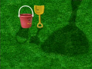 Blue's Clues Shovel and Pail Shadows