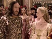 Giovanni and Lucrezia at their wedding