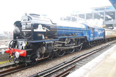 A1 Tornado 60163 in Blue at Reading 3