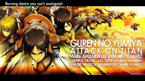 "ENGLISH ""Guren no Yumiya"" Attack on Titan (AmaLee Daniel)"