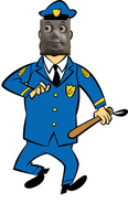 Toby as Police.