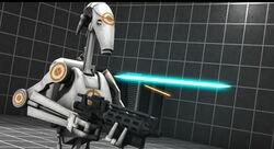 Training battle droid