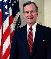 220px-George H. W. Bush, President of the United States, 1989 official portrait