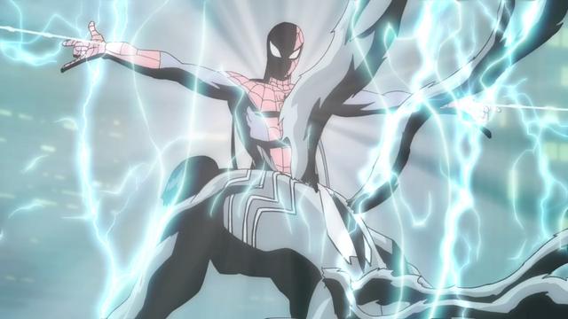 File:Spider-Man electrifies Venom.png