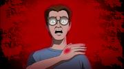 Peter being bitten