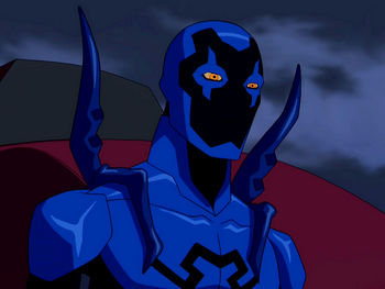 Young Justice Blue Beetle Scarab Blue Beetle | The DC N...