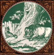 Aesop's Fables - The Boar and the Fox - Minton Hollins