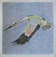 Stork 1 Dunsmore Tiles Polly Brace c1930 Minton Blank