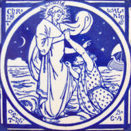 Christ Walking on the Sea - J Moyr Smith - Minton China Works