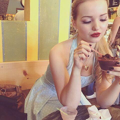 File:Dove eating chocolate ice cream.jpg