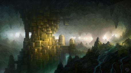 File:R169 457x256 557 The Hidden City 2d fantasy cave city picture image digital art.jpg