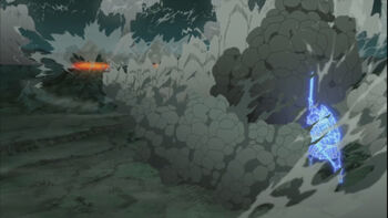 Madara-cuts-two-mountains-off