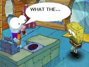 Squidbob invading the Barg-N-Mart