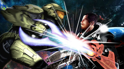 Master chief vs commander shepard by some bored guy-d4w58s2