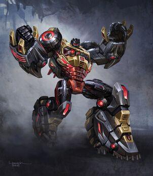 Transformers fall of cybetron dinobot grimlock 1 concept art
