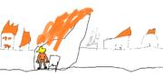 Town ablaze