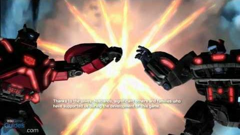 Transformers Fall of Cybertron - Credits