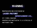 Laser Picture Entertainment Co. Warning