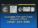 CBS-FOX Video Australian Piracy Warning (1989) AFaVSO information