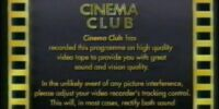 Cinema Club (UK) Warning Screen