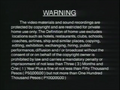 Universal Records Warning Screen 1