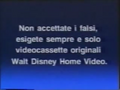 Walt Disney Home Video Italian Piracy Warning (1991) (S6)