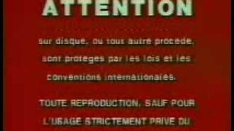 20th Century Fox Home Entertainment Canada Warning Screen