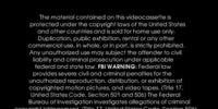 Wizard Video Warning Screen