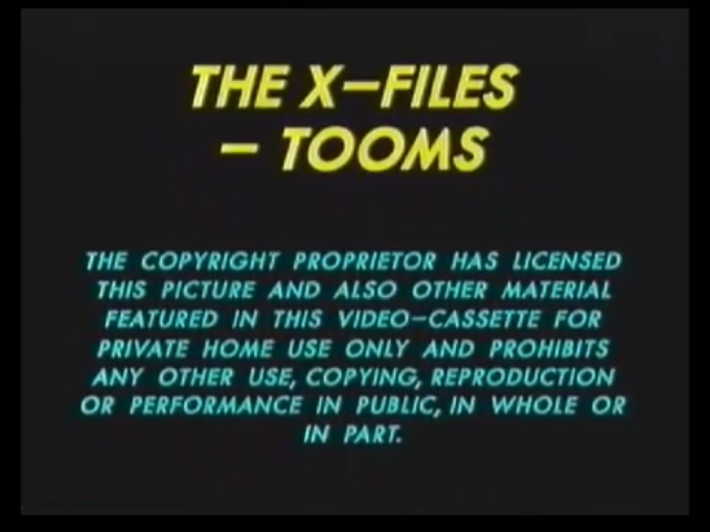File:20th Century Fox Home Entertainment UK Warning (1995) (The X-Files - Tooms) (S1).png