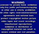 Entertainment in Video (UK) Warning Screen