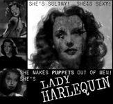Ladyharlequin poster