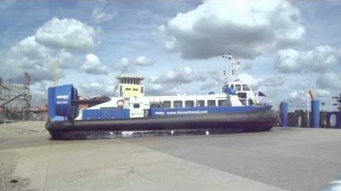 Isle of Wight Hovercraft leaving Southsea