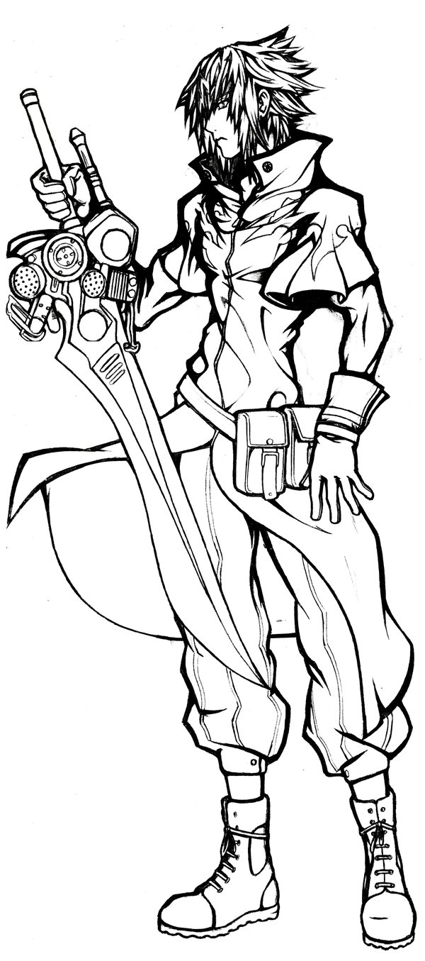 final fantasy character coloring pages - photo#7