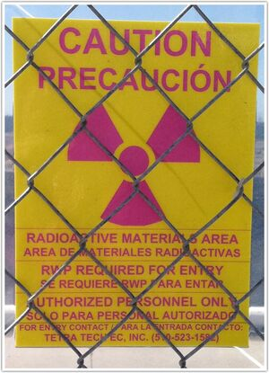 Caution Radioactive Materials Area