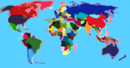 World map with the EEZ