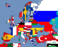 Flag map Europe