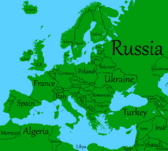 Europe with names