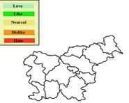 Slovenia Opinion map