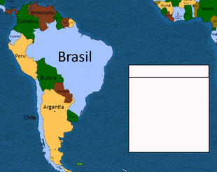 America do sul e parte da Africa