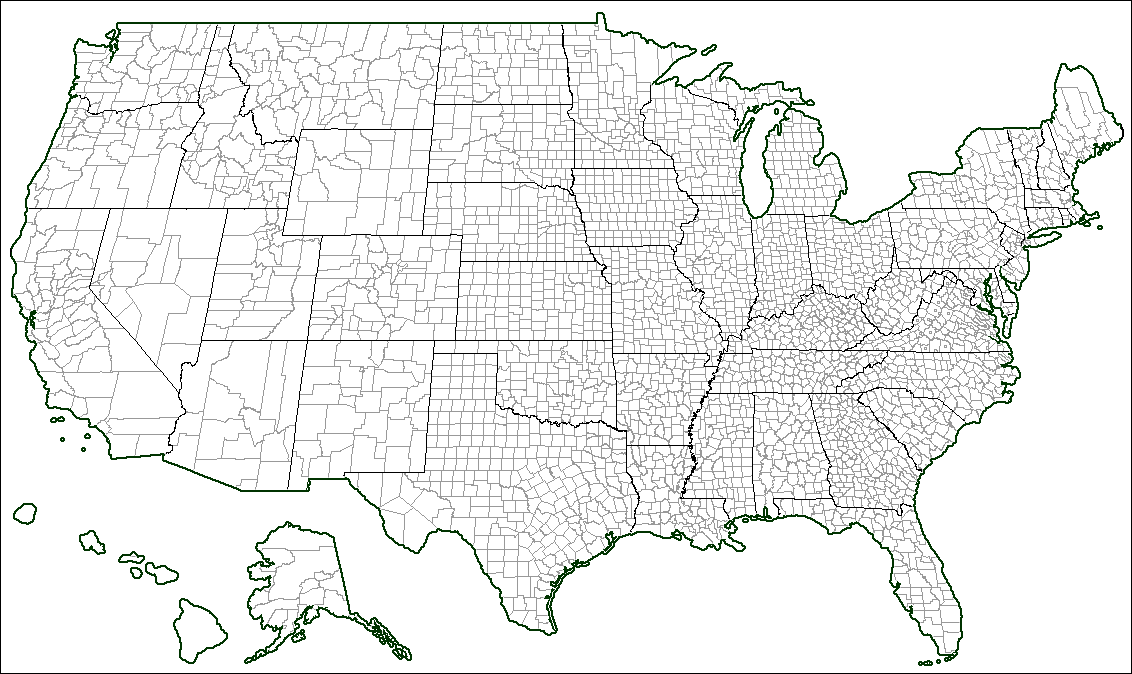 Image Usa Counties Blank Blankpng TheFutureOfEuropes Wiki - Usa map counties
