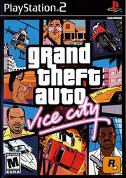 Grand Theft Auto Vice City PS2 Box Art
