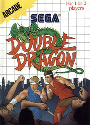 Double Dragon Master System Box Art