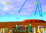 Missile Command PS1 Gameplay