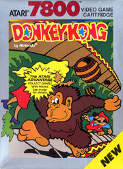 Donkey Kong Atari 7800 Box Art