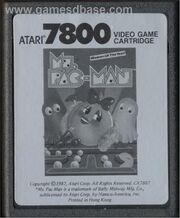 Ms. Pac-Man Atari 7800 Cart